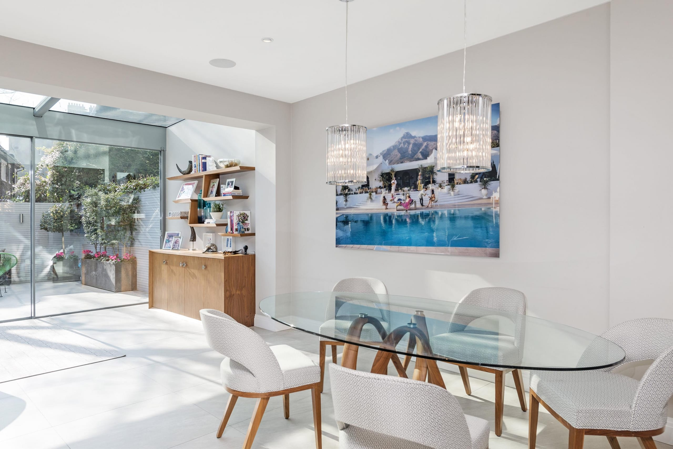 Glass Top Dining Table Extension