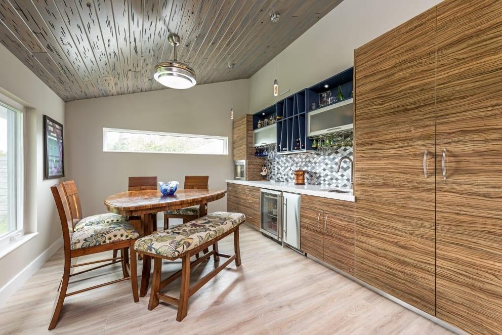 Wood Laminate Cabinets Bar White Laminate Countertop