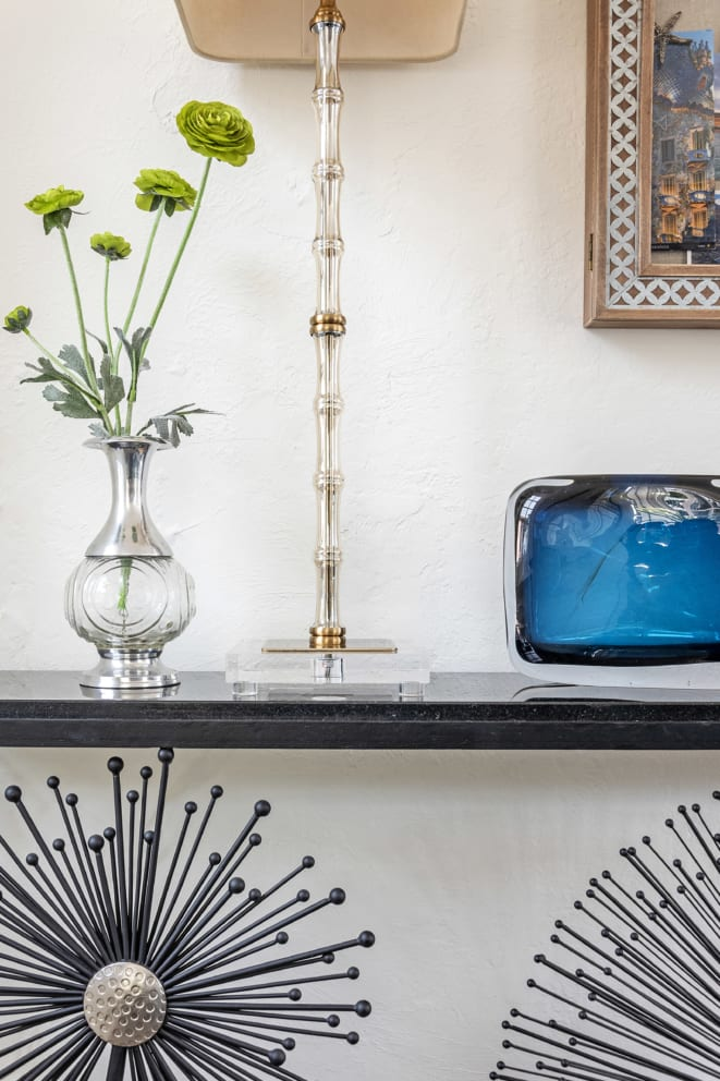 Jannet Davidsen Dandelion Style Table Blue Glass