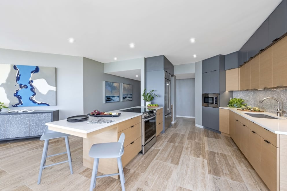 Kitchen Grey White Counter Top