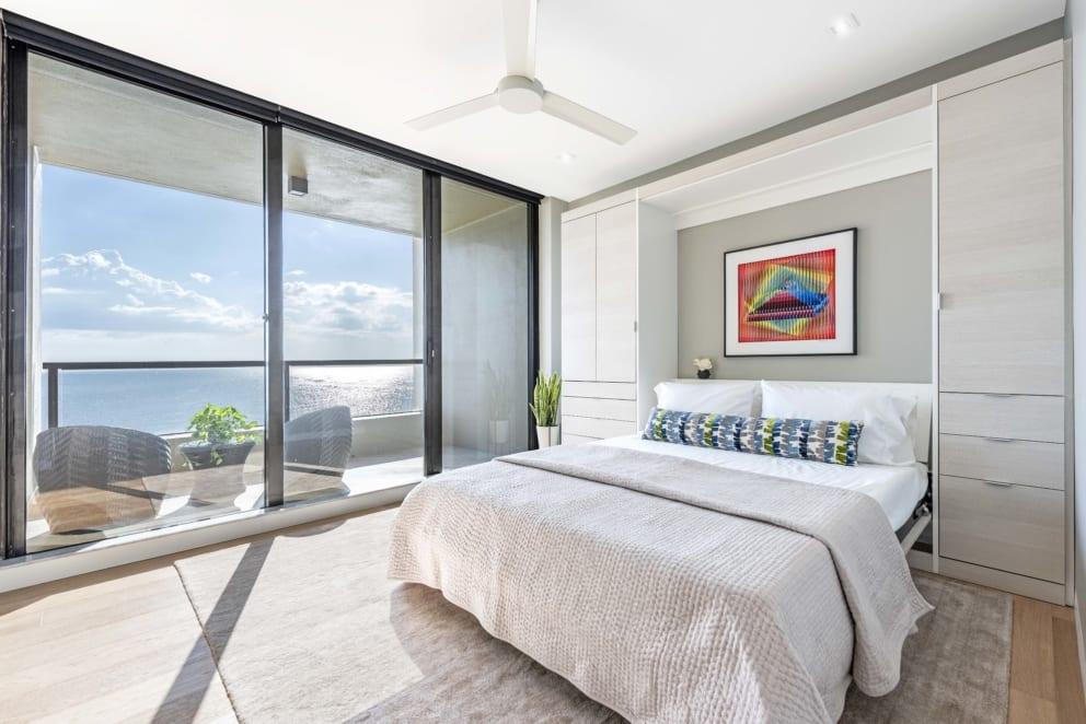 Light Bedroom Wood Flooring Balcony