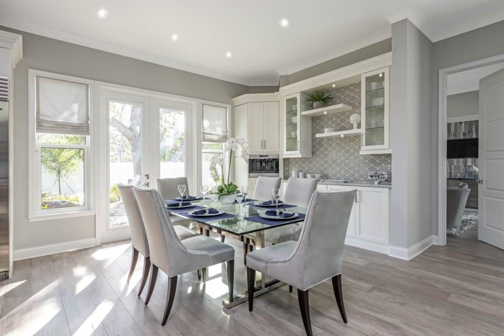 Linda Mixon Dinning Room Grey Interior