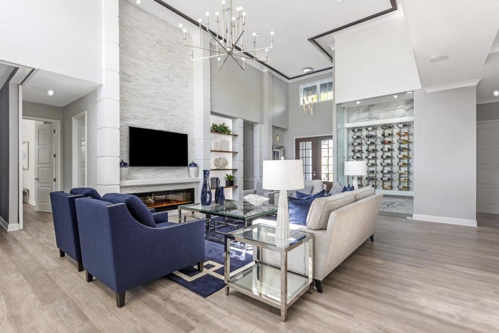 Linda Mixon Living Room Wine Cellar Navy Blue Funiture