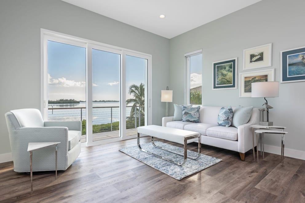 Living Room Olive Green Wood Floor