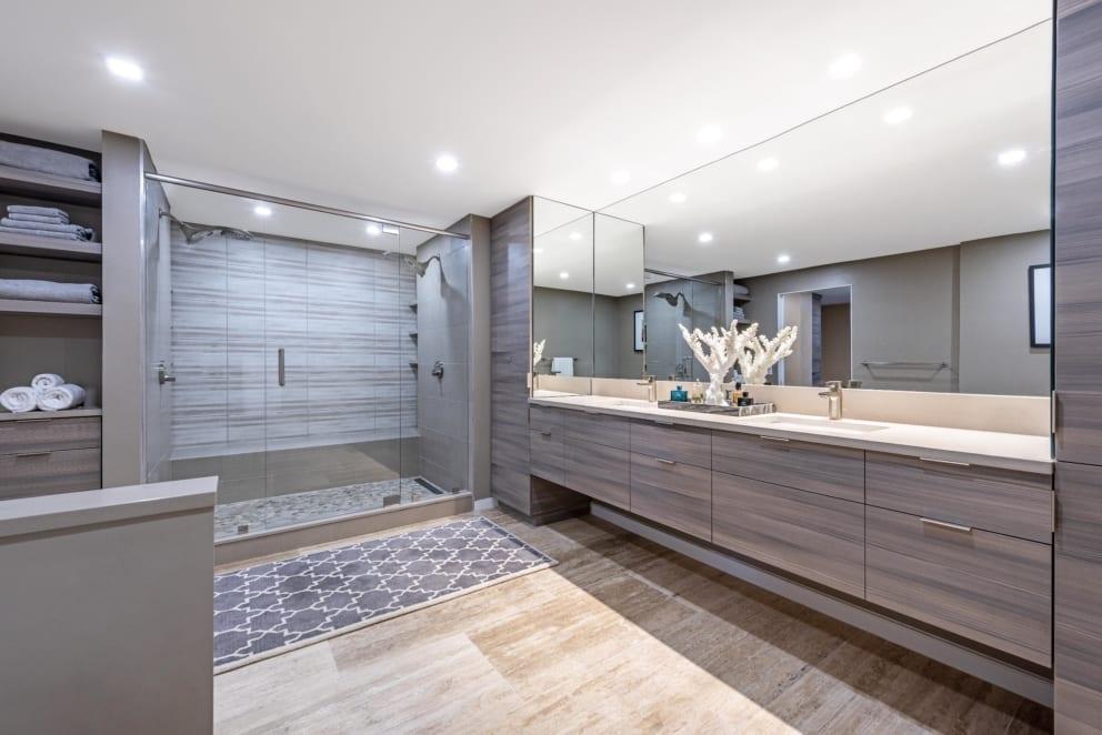 Master Bathroom Grey