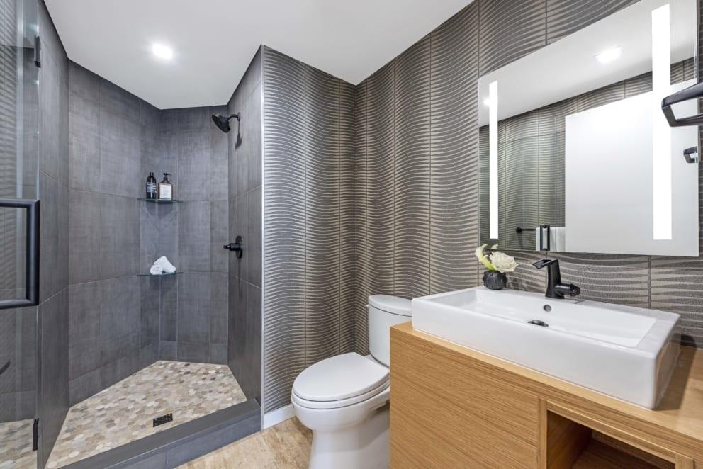 Shower Room Grey Tile