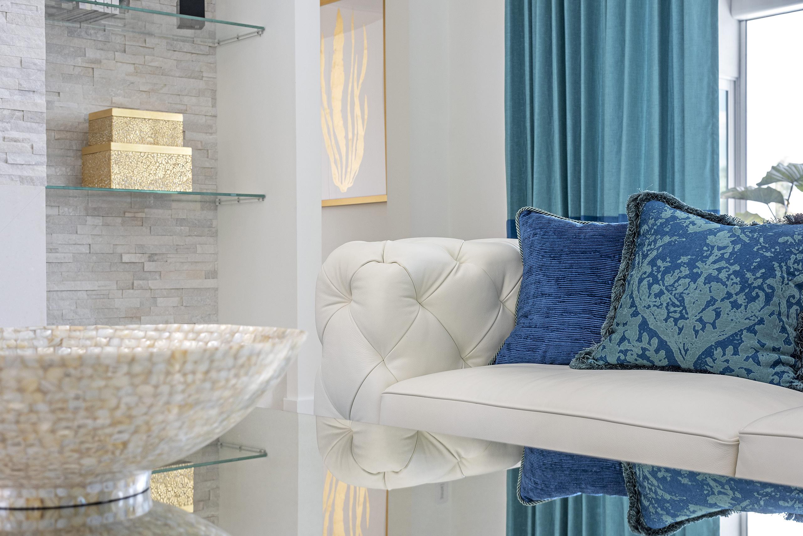 Linda Mixon White Couch Vignette