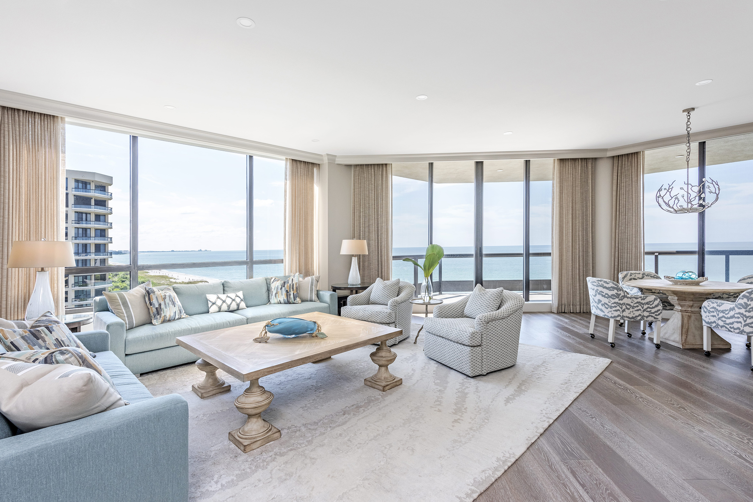 Sally Trout Livingroom Coastal Dining Room