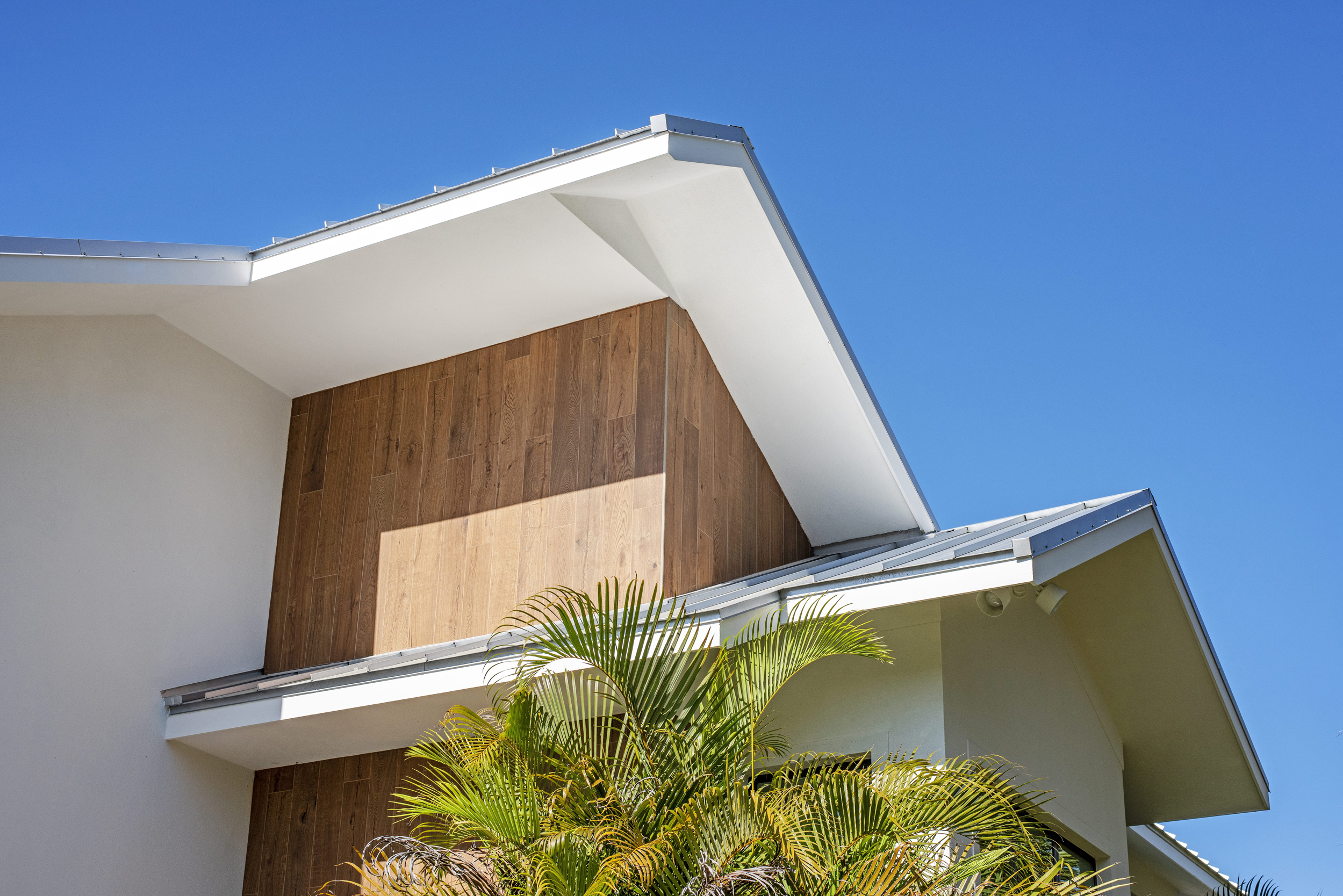 Abstract Wood Panel Exterior Feature