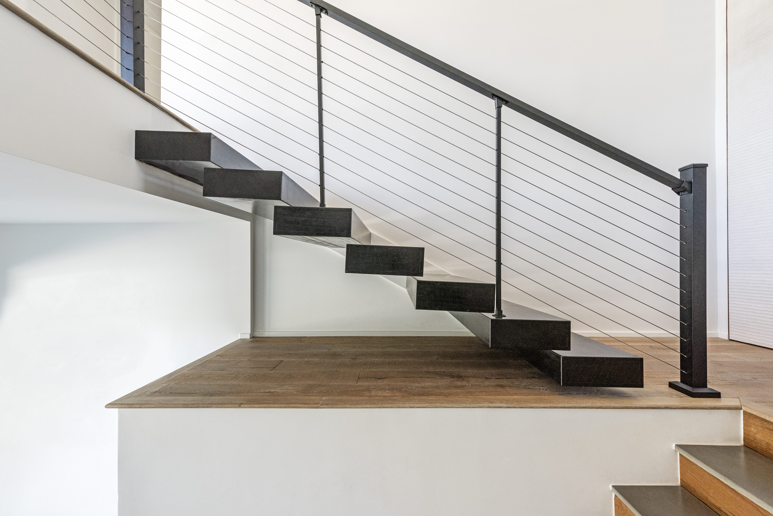 Black Wall Mounted Stairs