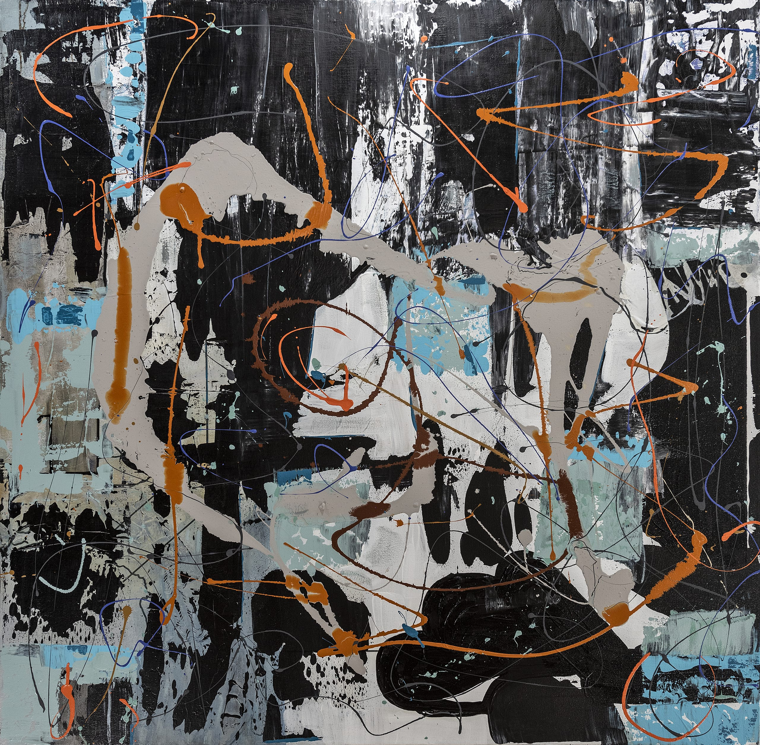Grace Howl Abstract Artist Black Orange
