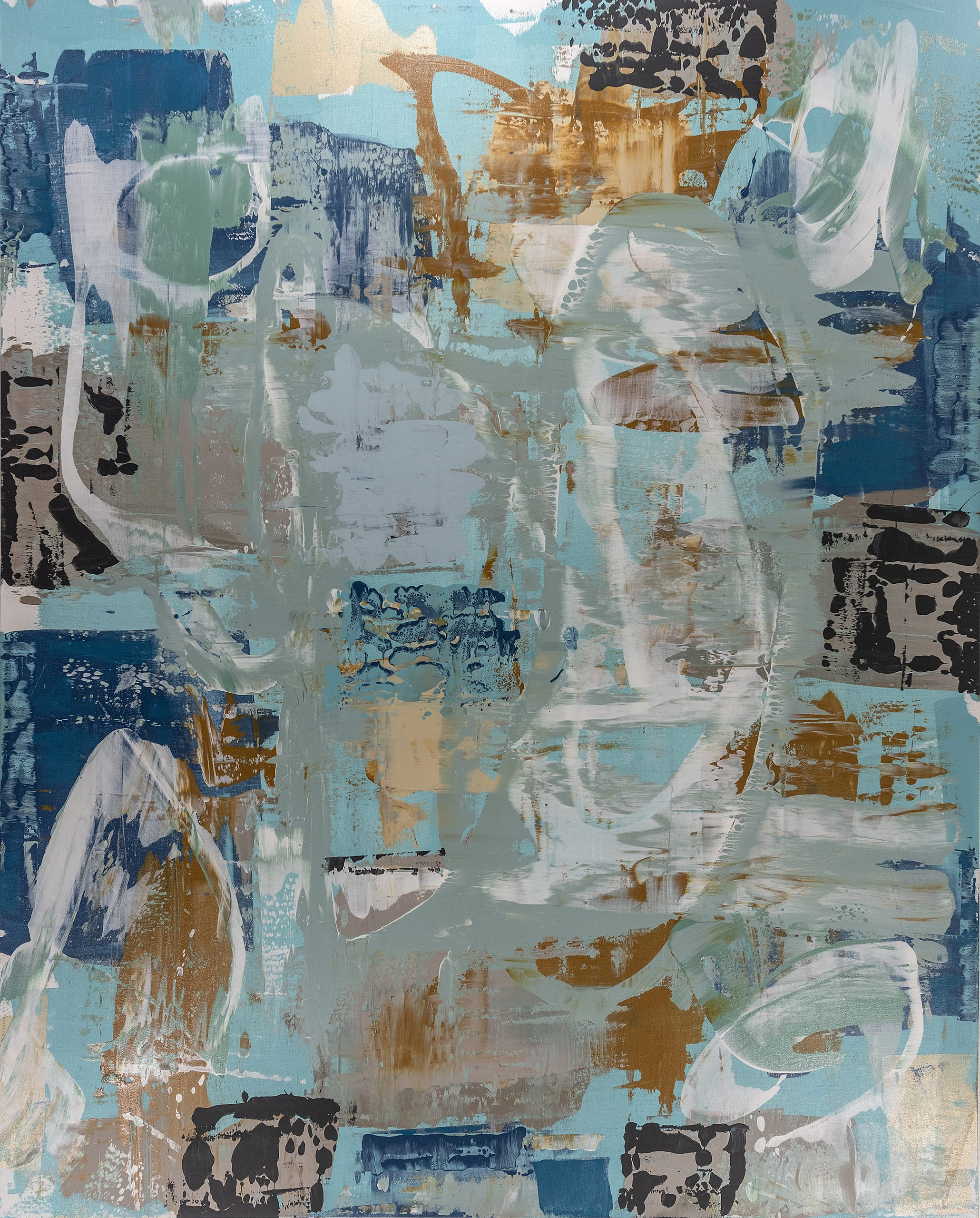 Grace Howl Abstract Artist Blue White