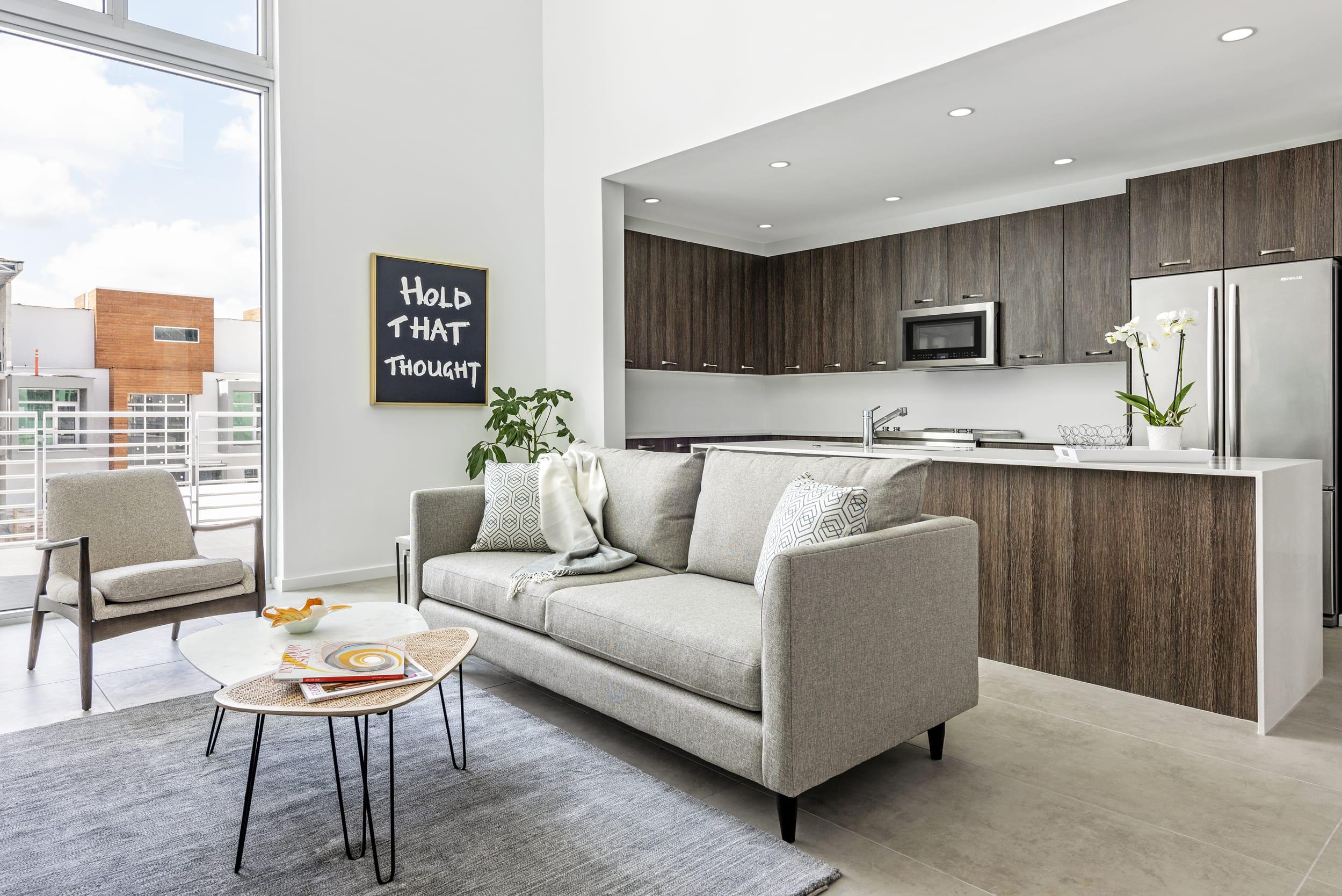 Holly Dennis Risdon Living Room Kitchen Dark Wood