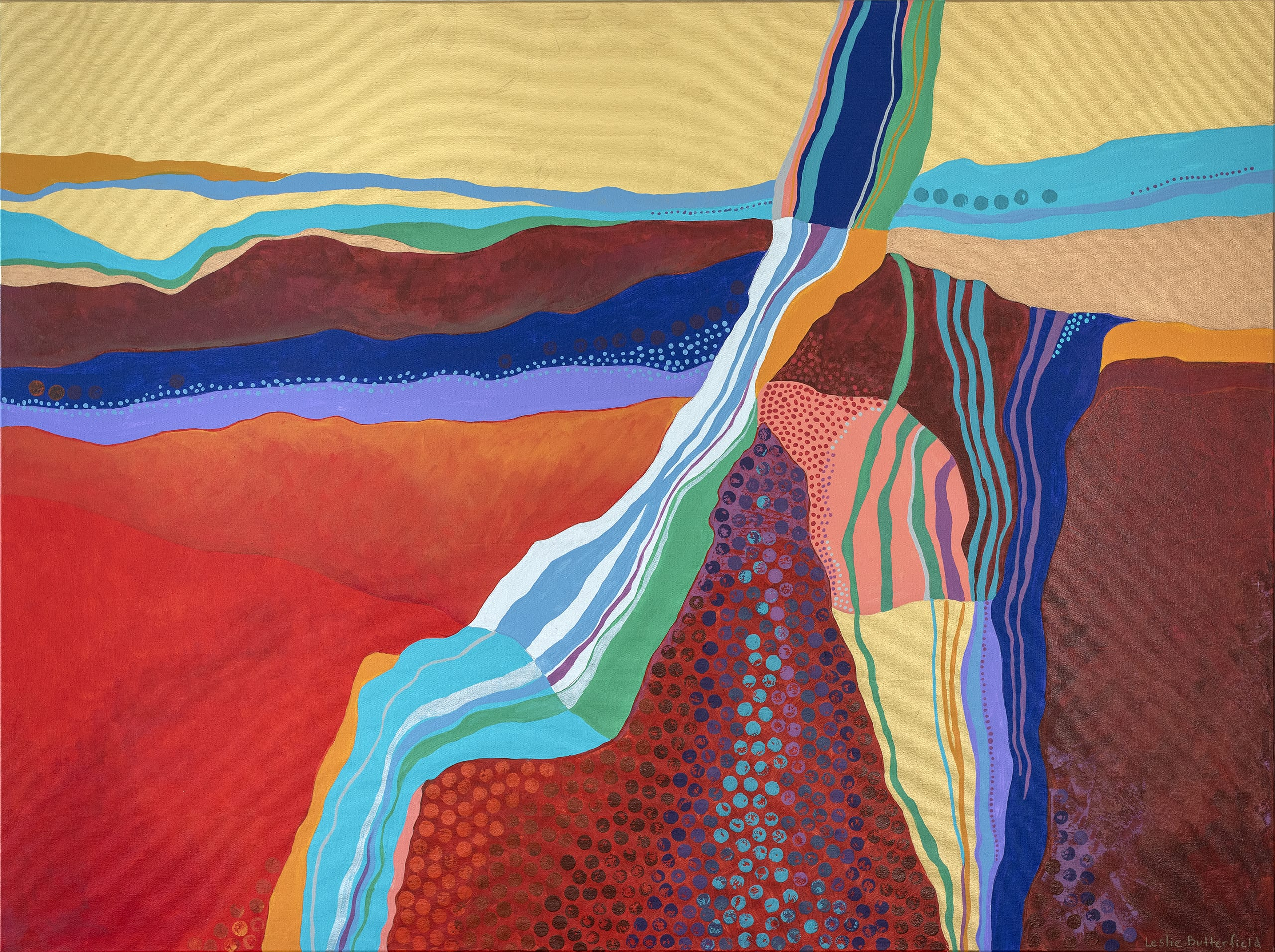 Leslie Butterfield Abstract Painting