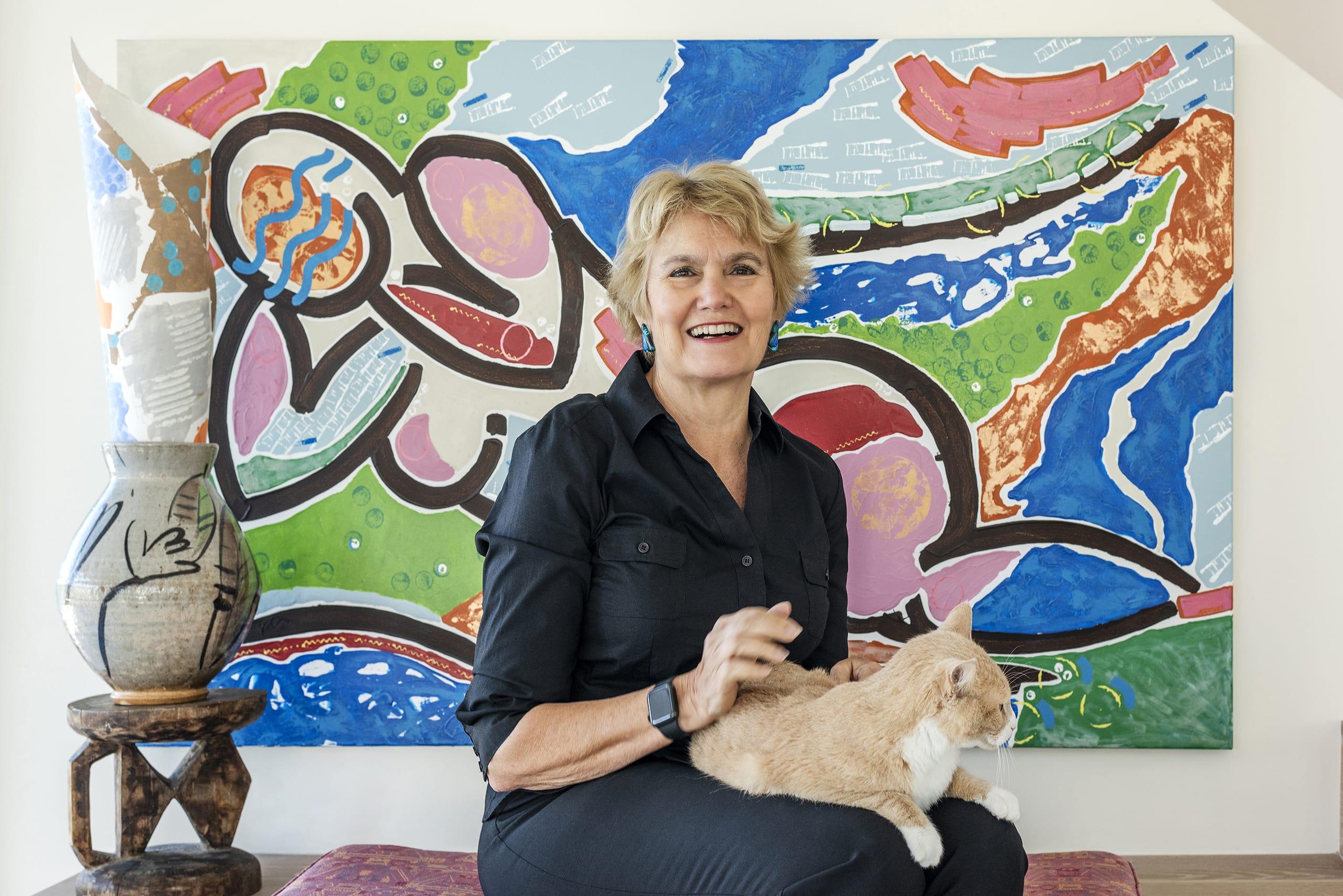 Leslie Butterfield Figure Painting Portrait Cat