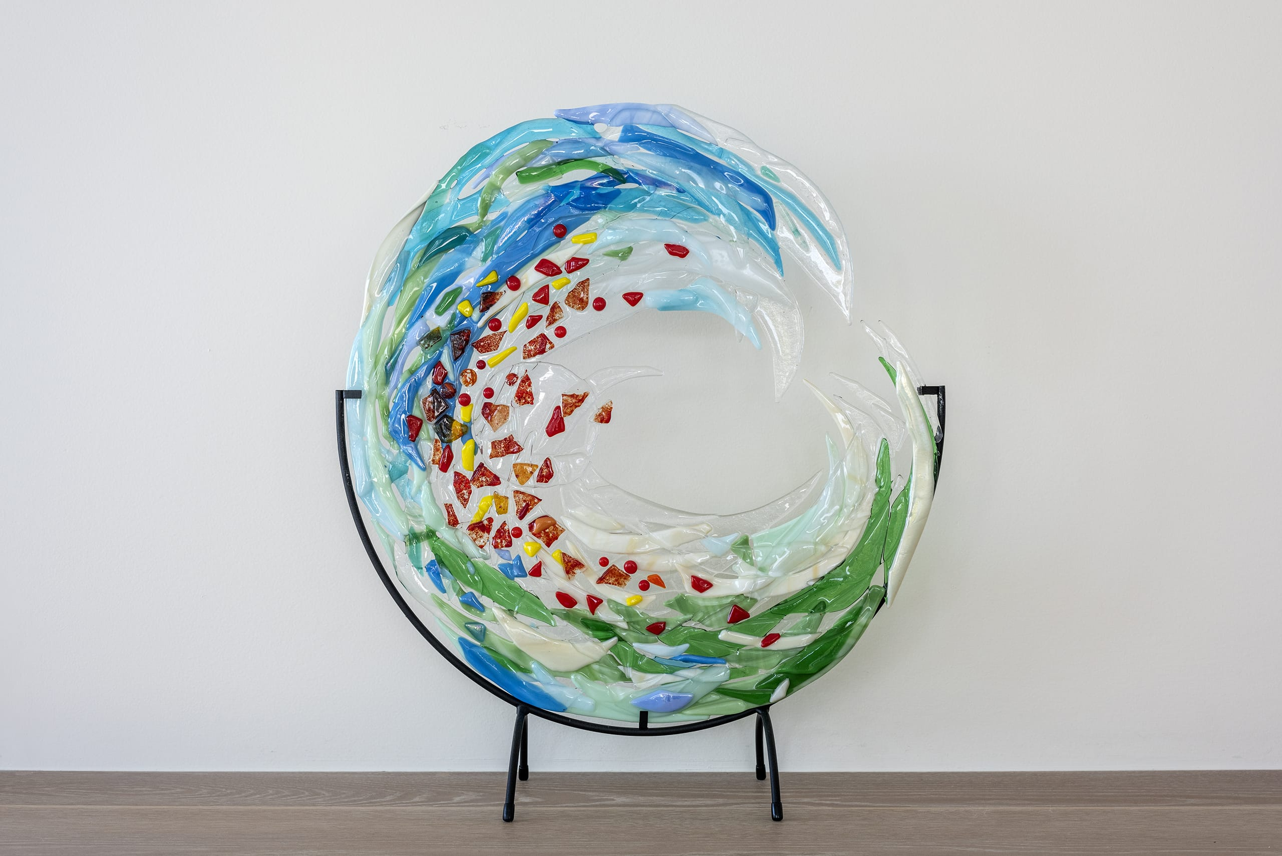 Leslie Butterfield Glass Work Wave