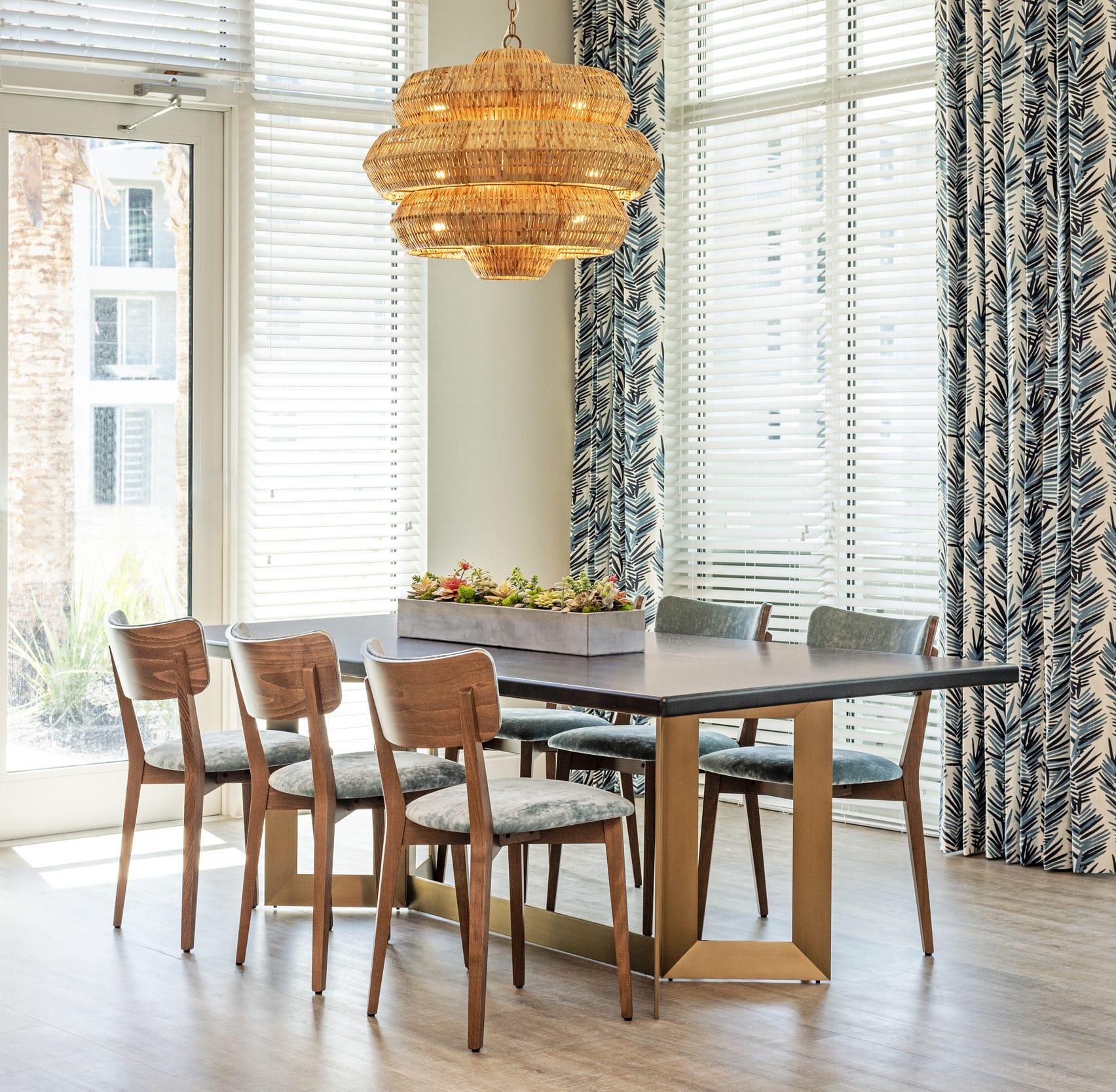 Studio121 Savona Club House Dinning Table Wicker Light Fixture