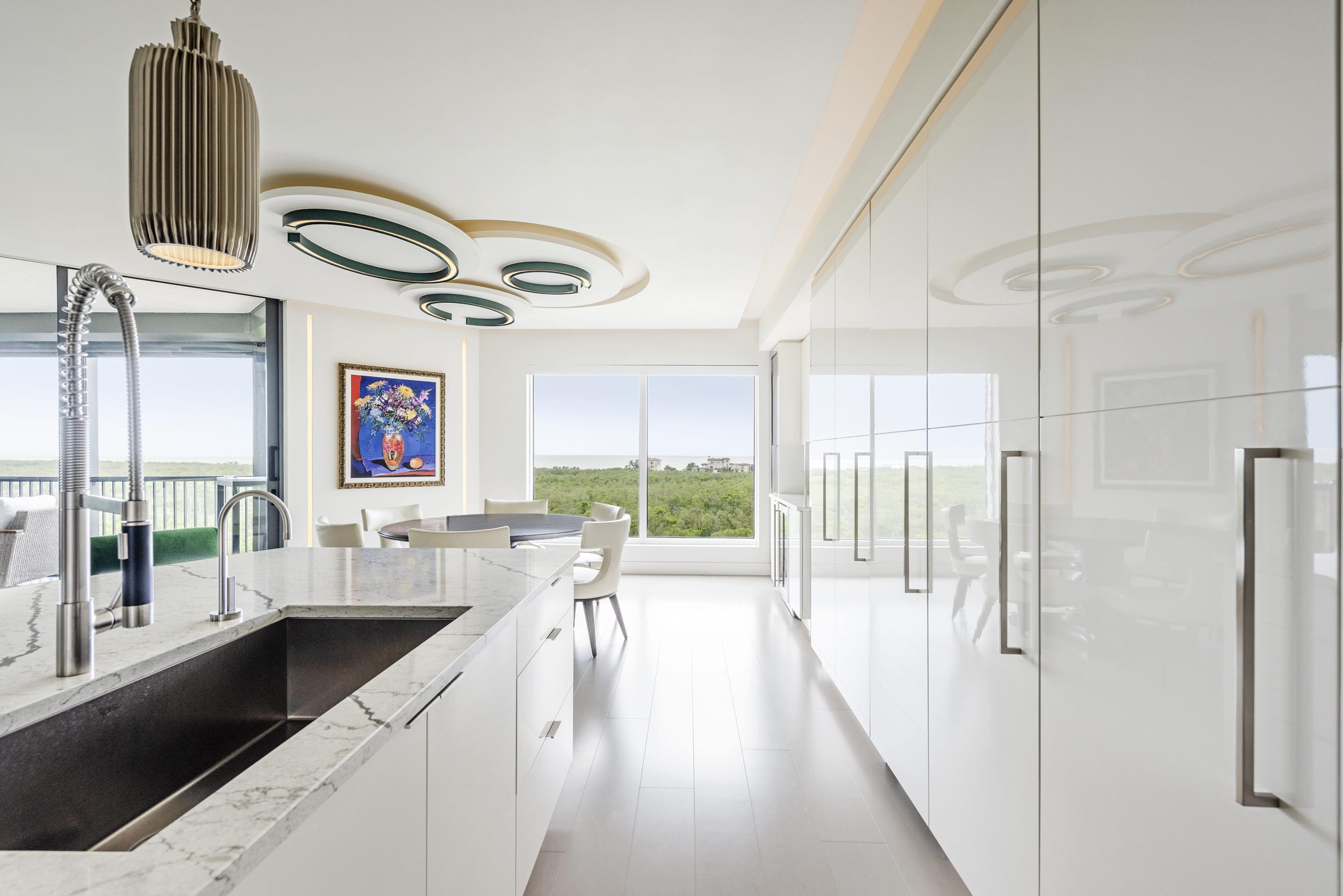 White Kitchen Reflection