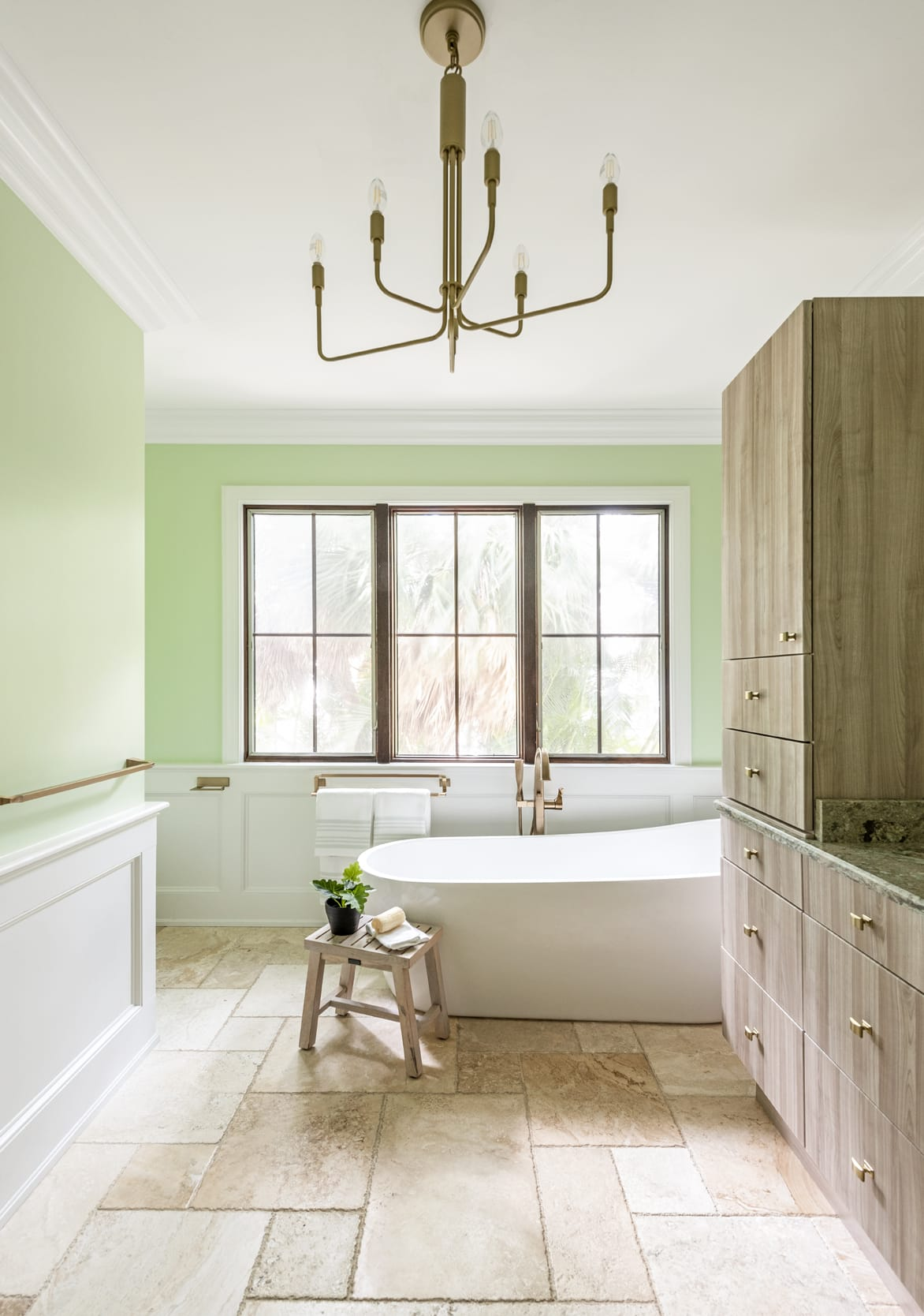 Bathroom Green Gold Chandalier