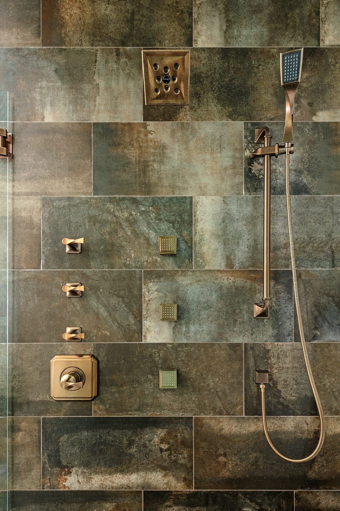 Shower Dark Stone Tile
