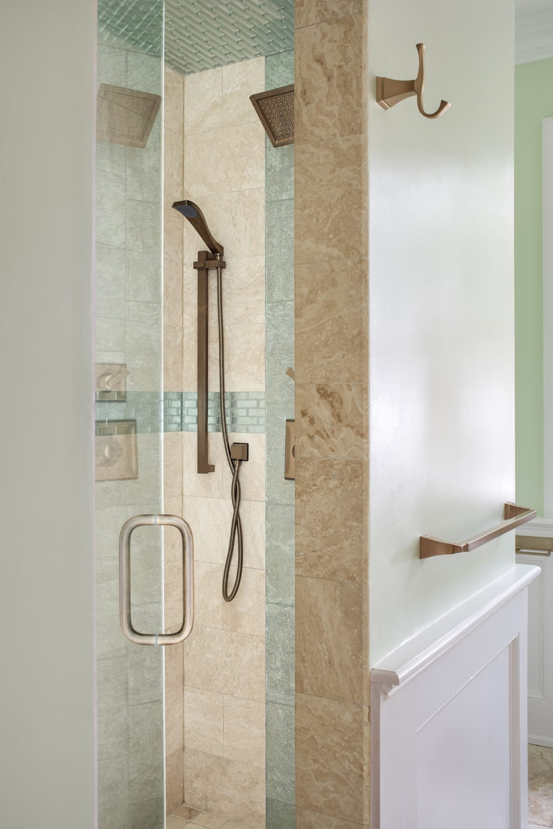 Shower Glass Door Towl Rack