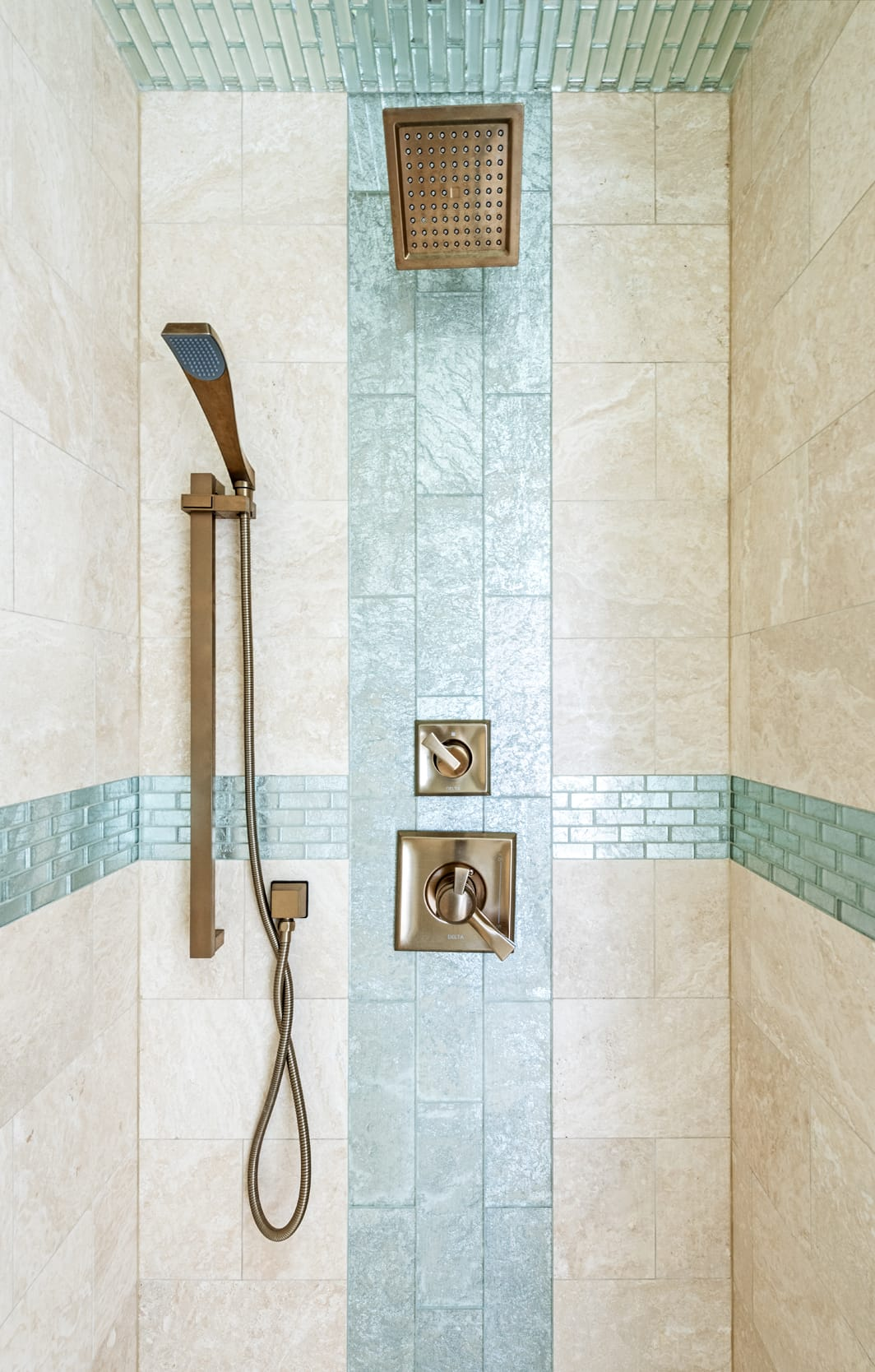 Shower Tile Stone Green Glass