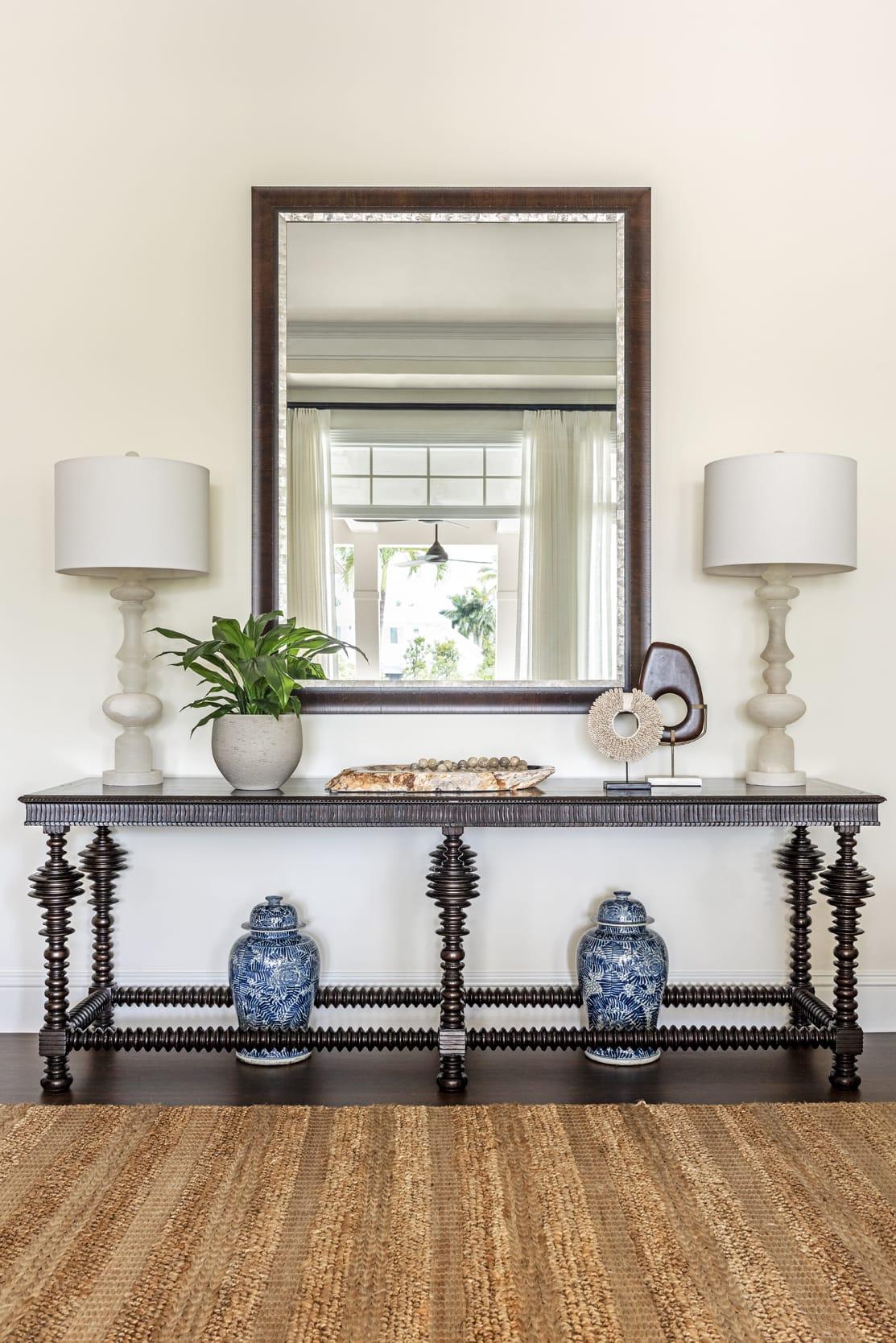 Jeffrey Fisher Home Dark Wood Table Display
