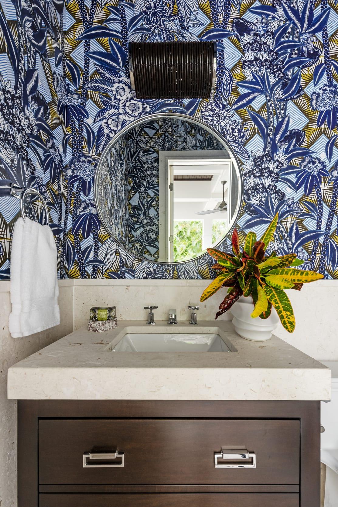 Jeffrey Fisher Home Tropical Pool Bathroom