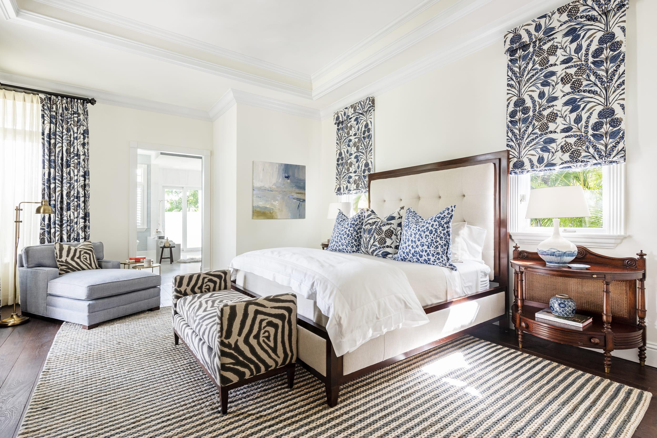 Jeffrey Fisher Home West Indies Styled Master Bedroom Dark Wood