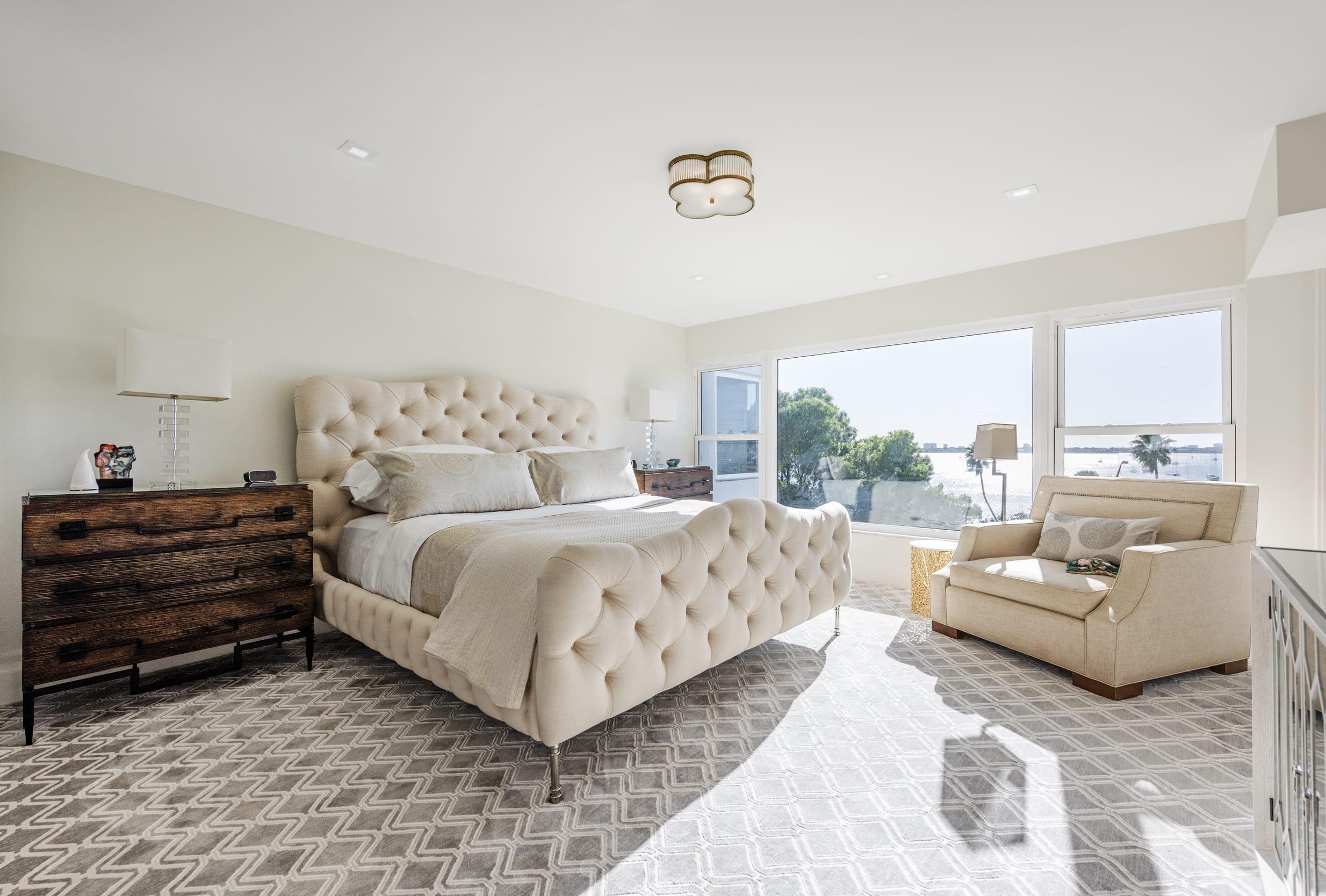 Coastal View Cream Bedroom Cream Armchair