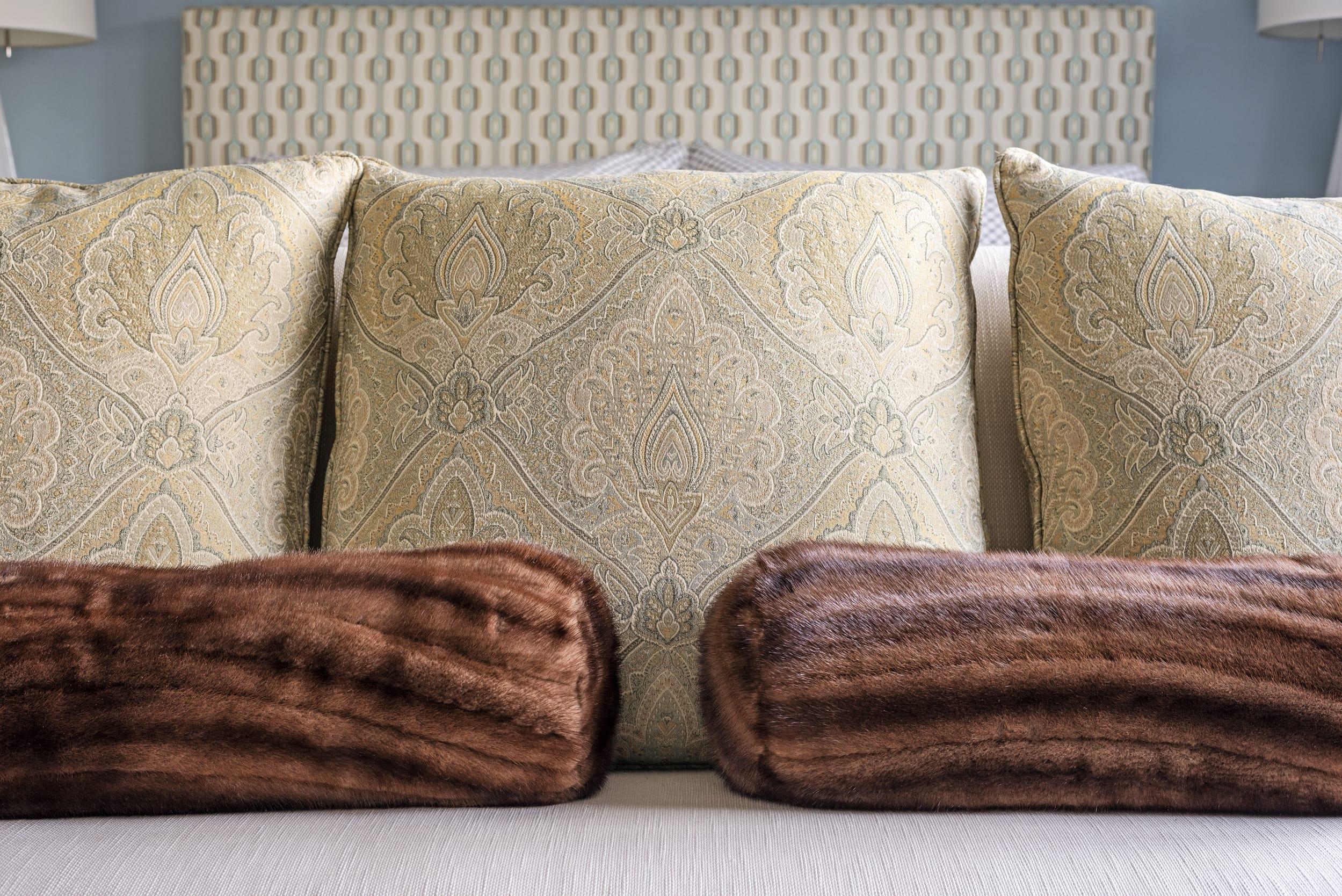Mink Fur Pillows Victorian Pillows