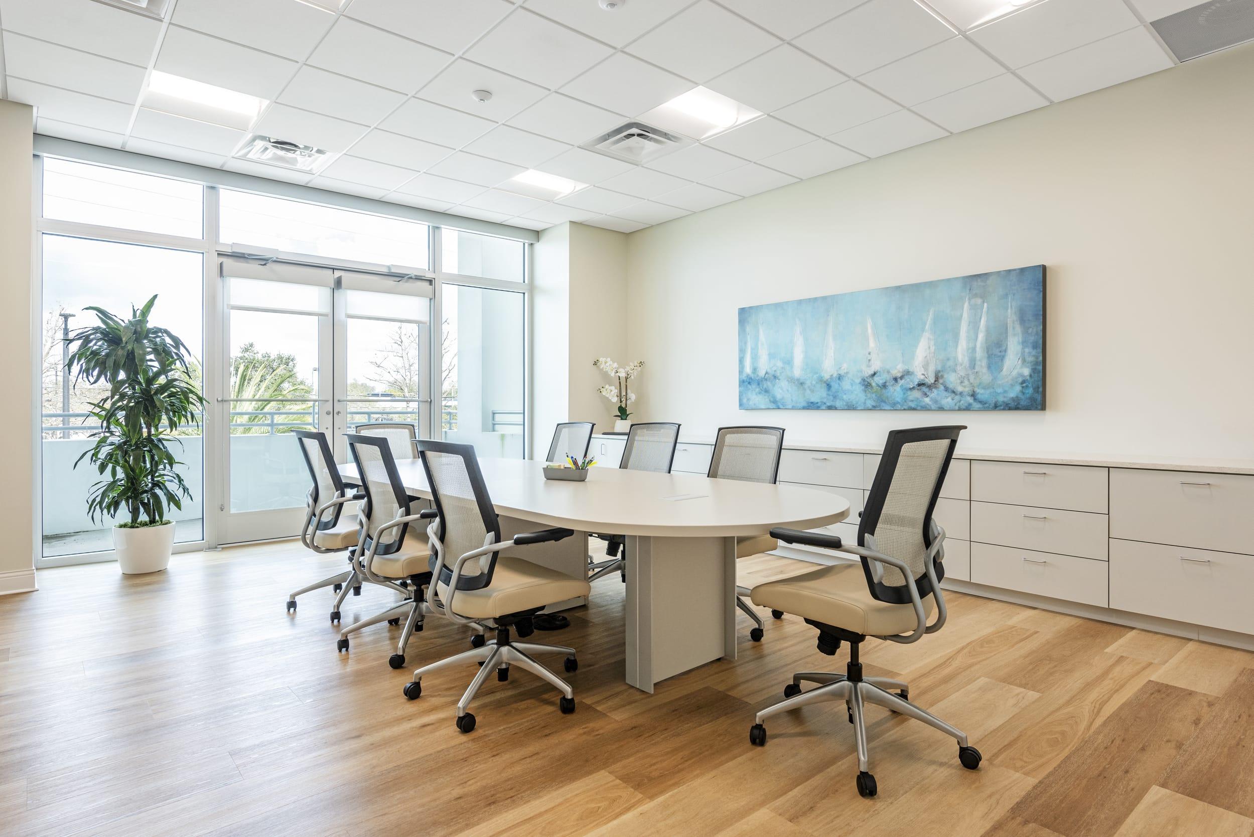 Exsecutive Meeting Conference Room Panoramic Sail Boats Painting