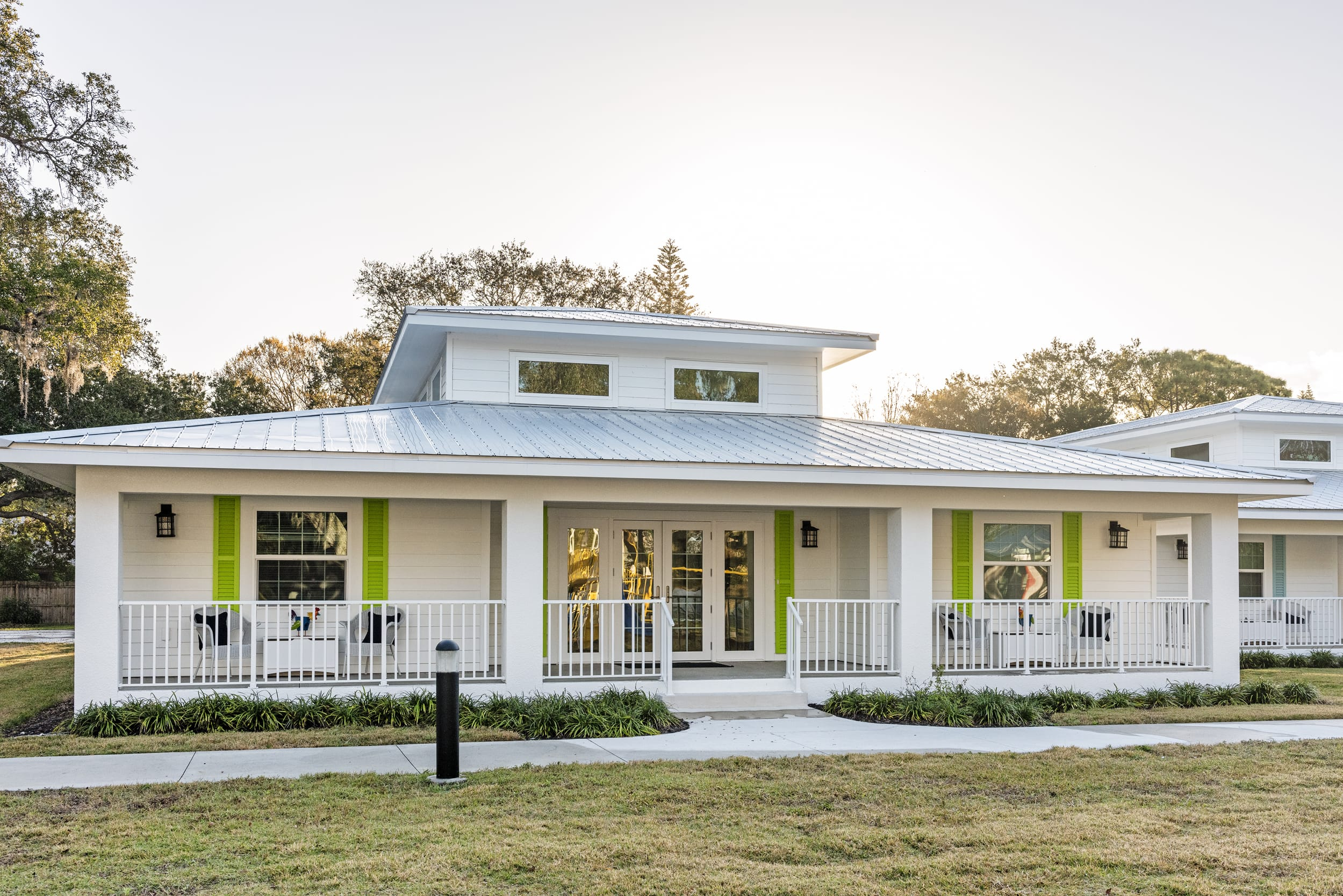 Lime Green Shutters Residential Home
