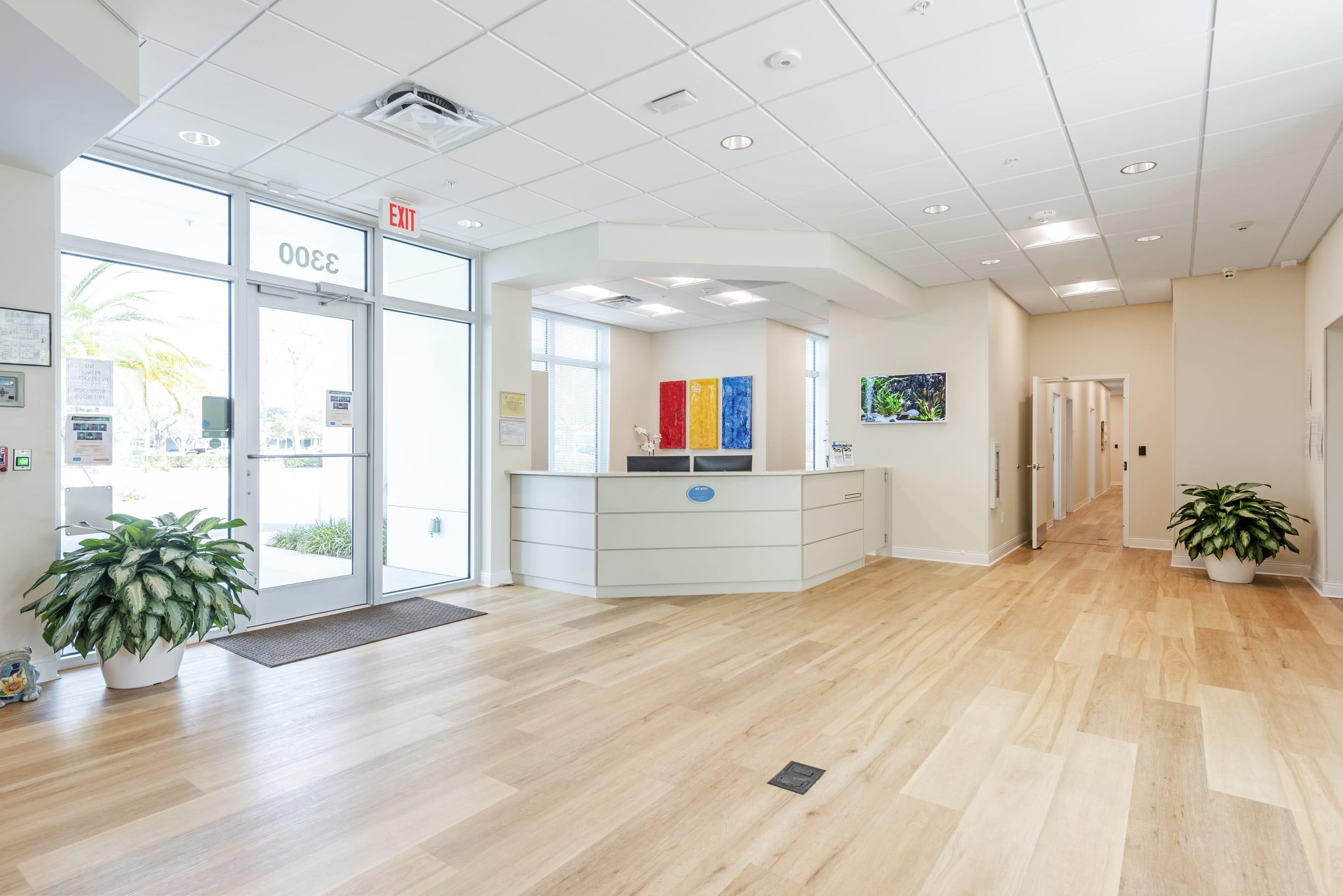 Reception Loby Entrance Wood Luxury Floors